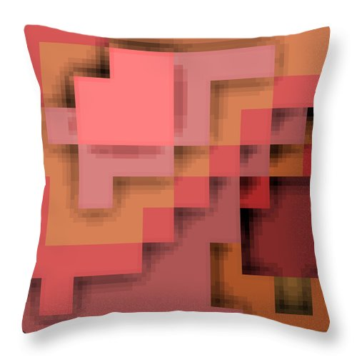 Square Throw Pillow featuring the digital art Cyberstructure 12 by Eikoni Images