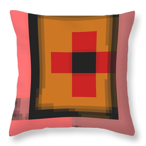 Square Throw Pillow featuring the digital art Cyberstructure 13 by Eikoni Images