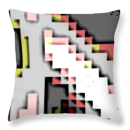 Square Throw Pillow featuring the digital art Cyberstructure 14 by Eikoni Images