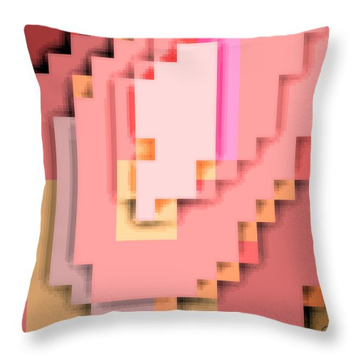 Square Throw Pillow featuring the digital art Cyberstructure 15 by Eikoni Images