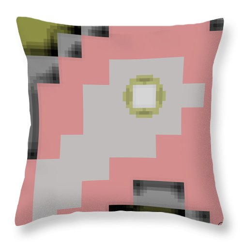 Square Throw Pillow featuring the digital art Cyberstructure 16 by Eikoni Images