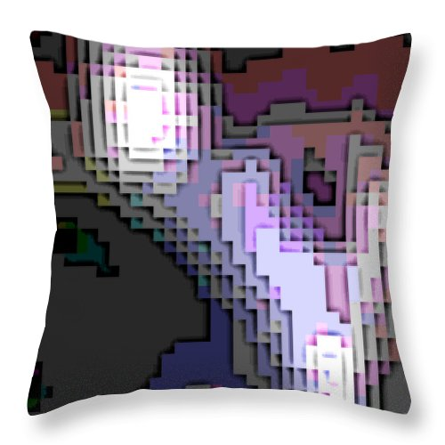 Square Throw Pillow featuring the digital art Cyberstructure 2 by Eikoni Images
