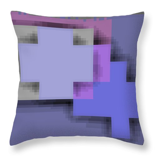 Square Throw Pillow featuring the digital art Cyberstructure 3 by Eikoni Images