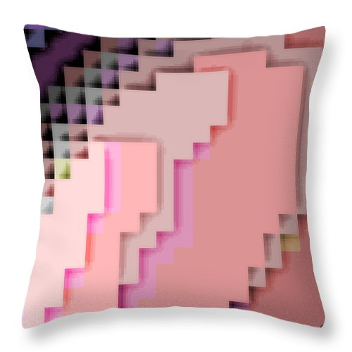 Square Throw Pillow featuring the digital art Cyberstructure 4 by Eikoni Images