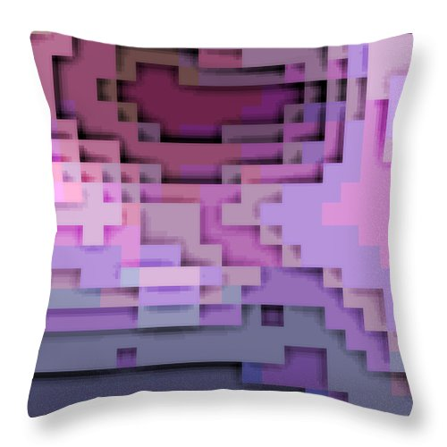Square Throw Pillow featuring the digital art Cyberstructure 5 by Eikoni Images