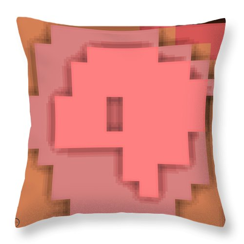 Square Throw Pillow featuring the digital art Cyberstructure 7 by Eikoni Images