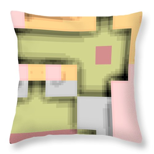 Square Throw Pillow featuring the digital art Cyberstructure 8 by Eikoni Images