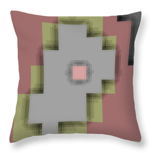 Square Throw Pillow featuring the digital art Cyberstructure 9 by Eikoni Images