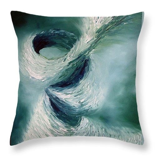 Tornado Throw Pillow featuring the painting Cyclone by Elizabeth Lisy Figueroa