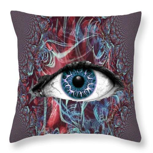 Throw Pillow featuring the digital art Cyclops by Steven Fresquez