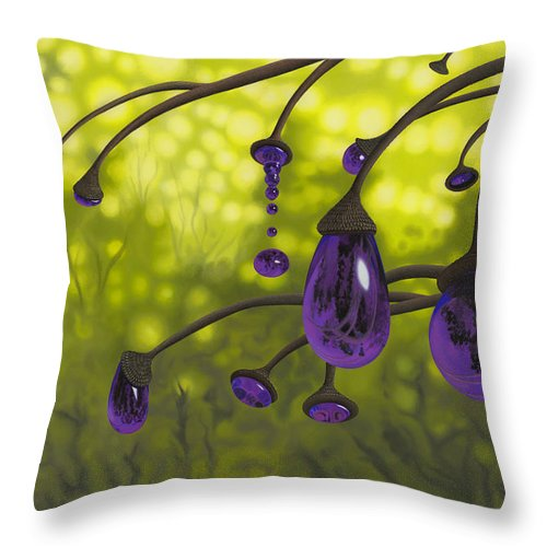 Tree Throw Pillow featuring the painting Cyphomandra Vitra by Patricia Van Lubeck