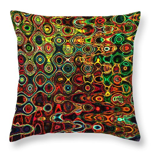 Abstract Throw Pillow featuring the digital art D2 by Iliyan Bozhanov