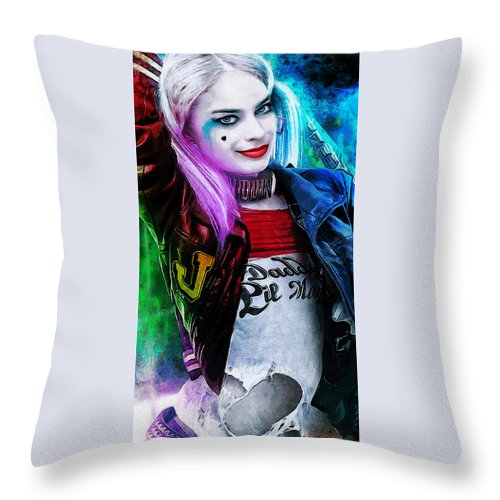 Heroes Throw Pillow featuring the digital art Daddys Little Girl by Canvas Cultures