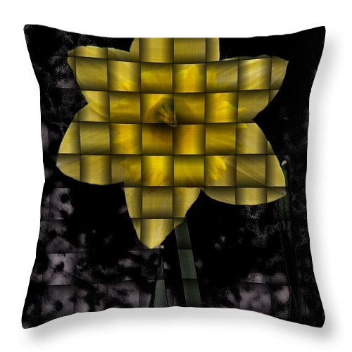 Daffodil Throw Pillow featuring the photograph Daffodil Weave by Tim Allen