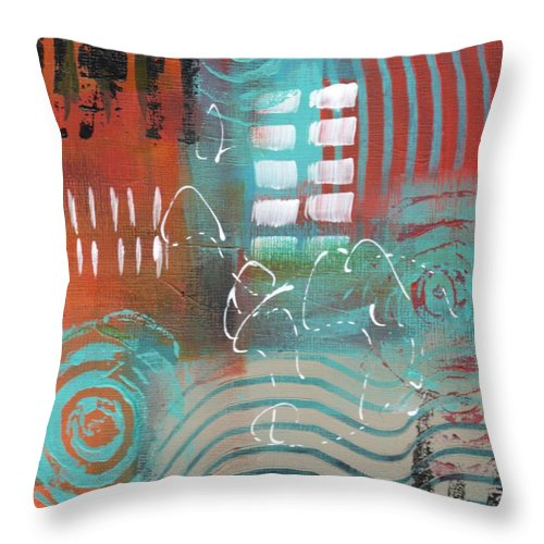 Abstractart Throw Pillow featuring the painting Daily Abstract Week 2, #2 by Suzzanna Frank