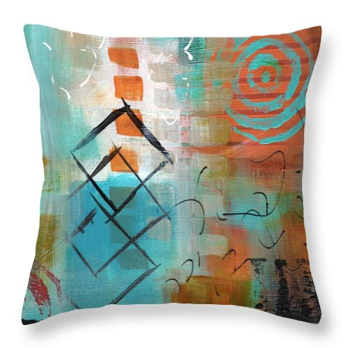 Abstractart Throw Pillow featuring the painting Daily Abstract Week 2, #3 by Suzzanna Frank
