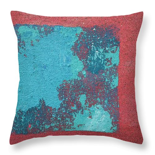 Red Delight Throw Pillow featuring the painting Daily Abstraction 218022001b by Eduard Meinema