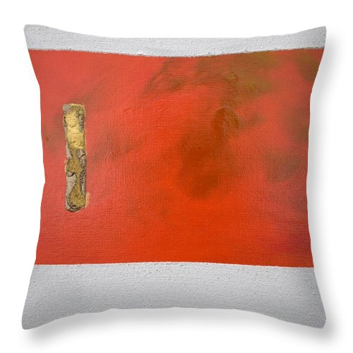 Goldplated Throw Pillow featuring the painting Daily Abstraction 218022101 by Eduard Meinema