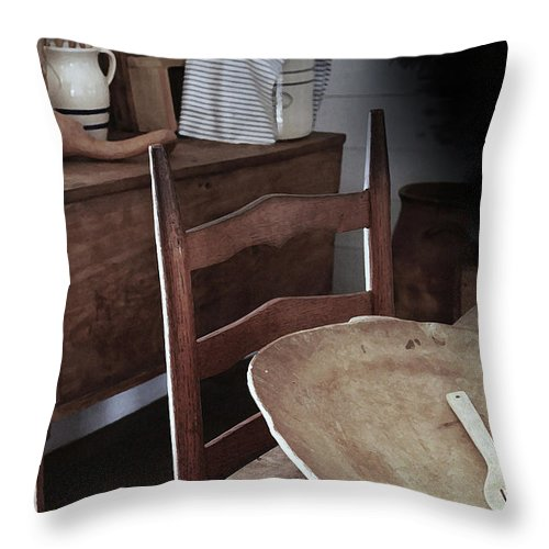 Primitive Kitchens Throw Pillow featuring the photograph Daily Bread by Kim Henderson