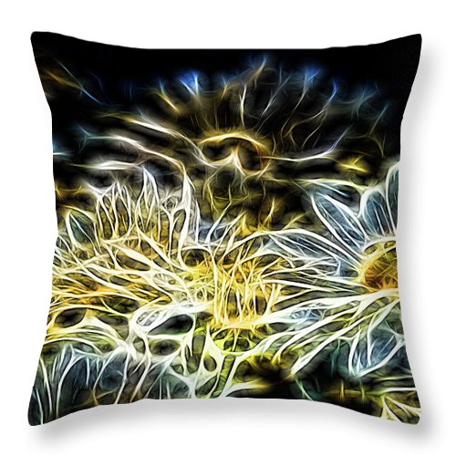 Daisy Throw Pillow featuring the photograph Daisy by Carolyn Truchon