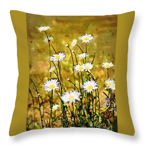 Daisy Throw Pillow featuring the photograph Daisy Field by Donna Bentley