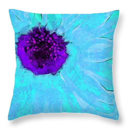 Daisy Throw Pillow featuring the photograph Daisy In Disguise by Krissy Katsimbras
