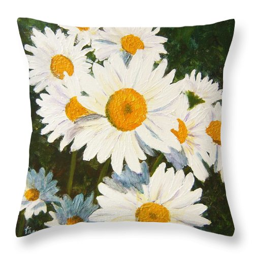 Daisy Throw Pillow featuring the painting Daisy by Tami Booher