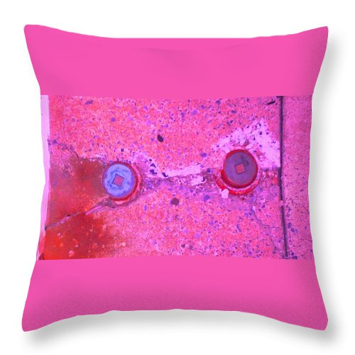 Photograph Throw Pillow featuring the photograph Damaged Pipes by Thomas Valentine