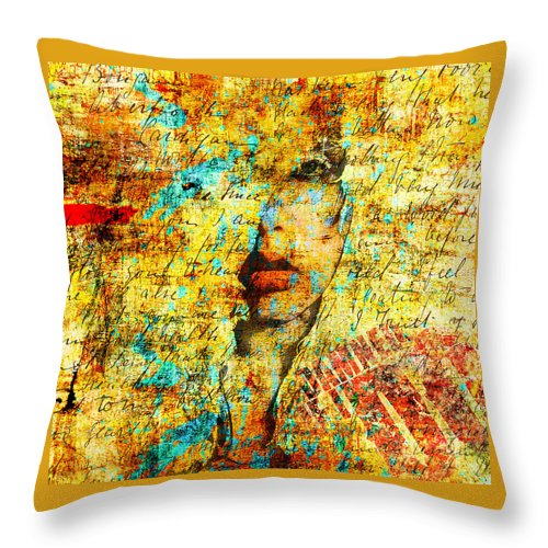 Painting Throw Pillow featuring the painting Damned by Mac Adanc