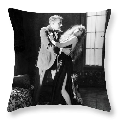 -damsel In Distress- Throw Pillow featuring the photograph Damsel In Distress by Granger