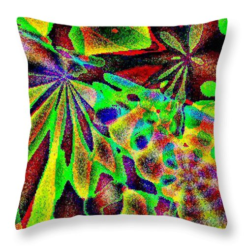 Computer Art Throw Pillow featuring the digital art Damselwing by Dave Martsolf