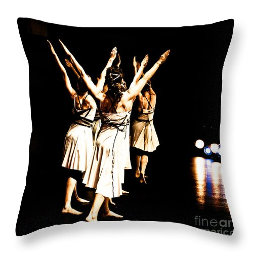 Dance Throw Pillow featuring the photograph Dance - Y by Scott Sawyer