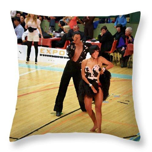 Lehtokukka Throw Pillow featuring the photograph Dance Contest Nr 02 by Jouko Lehto