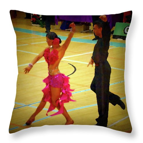 Lehtokukka Throw Pillow featuring the photograph Dance Contest Nr 06 by Jouko Lehto