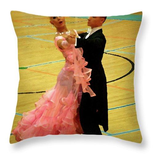 Lehtokukka Throw Pillow featuring the photograph Dance Contest Nr 17 by Jouko Lehto