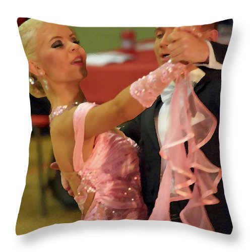 Lehtokukka Throw Pillow featuring the photograph Dance Contest Nr 19 by Jouko Lehto