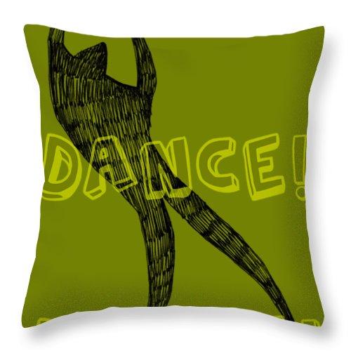Text Throw Pillow featuring the digital art Dance Dance Dance by Michelle Calkins