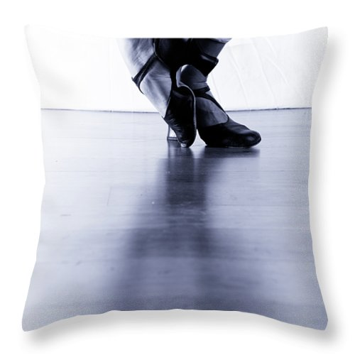 Jazz Throw Pillow featuring the photograph Dance Feet 1 by Scott Sawyer