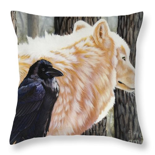 Acrylic Throw Pillow featuring the painting Dance In The Light by Sandi Baker
