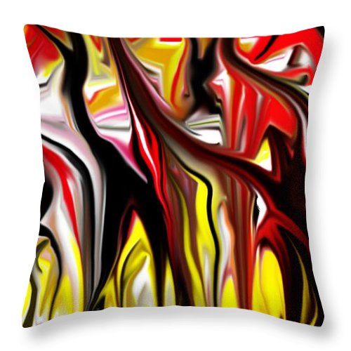 Abstract Throw Pillow featuring the digital art Dance Of The Sugar Plum Faries by David Lane