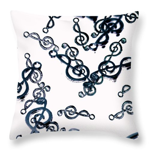 Abstract Throw Pillow featuring the photograph Dance Of The Treble Clef by Jorgo Photography - Wall Art Gallery
