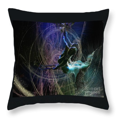 Nature Painting Throw Pillow featuring the painting Dance Of The Universe by Miki De Goodaboom