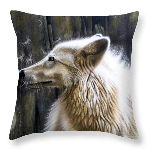 Acrylics Throw Pillow featuring the painting Dance -The Moon by Sandi Baker
