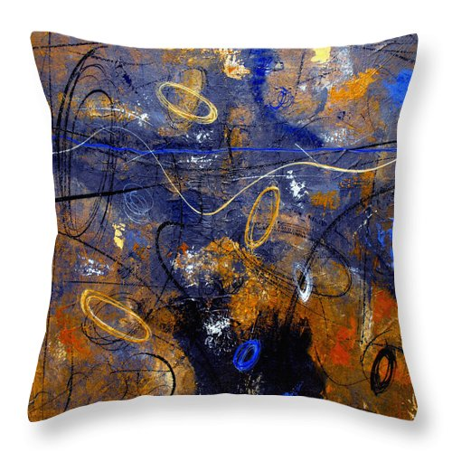 Abstract Throw Pillow featuring the painting Dance The Night Away by Ruth Palmer