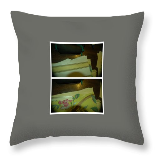 Abstract Throw Pillow featuring the photograph Dance To The Music by Alwyn Glasgow
