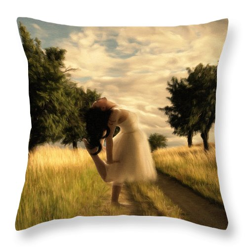 Impressionism Throw Pillow featuring the painting Dance Until Dawn by Georgiana Romanovna