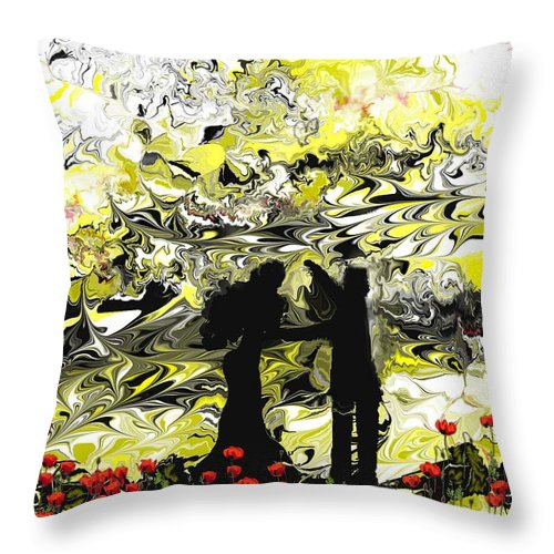 Landscape Throw Pillow featuring the digital art Dance With Me by Abel Padilla