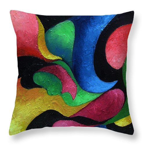 Abstract Throw Pillow featuring the painting Dance With Me by Elizabeth Lisy Figueroa