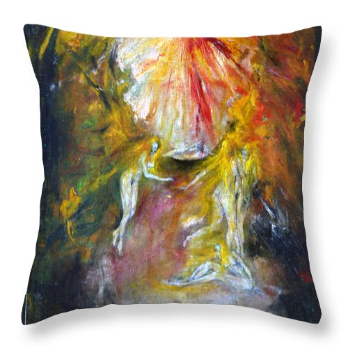 Imagination Throw Pillow featuring the painting Dance by Wojtek Kowalski
