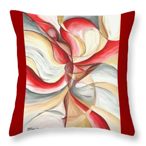 Figure Throw Pillow featuring the painting Dancer II by Rowena Finn